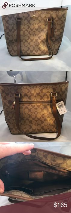 NEW Authentic Coach Zip Top Purse Brand New Authentic Coach Handbag. Has  Tag Still Attached ab2d824eb5