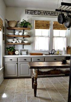 40 stunning farmhouse kitchen ideas on a budget (28)