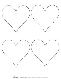Printable Valentine Day Hearts | Bonecas de crochê