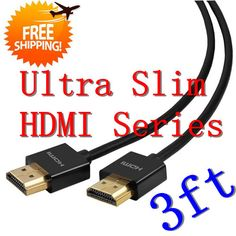 Aliexpress.com : Buy Free shipping New High speed 1.4V Gold hdmi Cable 1M 1080P Ultra Slim hdmi male Hot Sales from Reliable cable hdmi male male suppliers on Dongguan TESNT Eelectronics Technology Co.,LTD $13.73