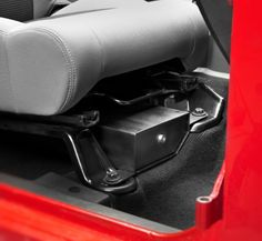 Bestop® Locking Under Seat Storage Box in Textured Black for 07-13 Jeep® Wrangler & Wrangler Unlimited JK Passenger Side