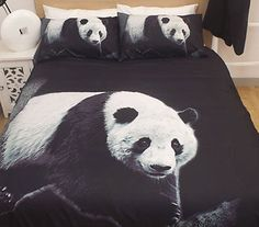 Essentially Home Living Animal Print Quilt Cover Set Queen - Panda