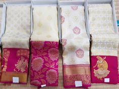 Temple of Sarees Celebrates only fine quality Sarees each is unique with variety from Original Kanchipuram silk to Designer sarees by the best professionals Kanjivaram Sarees Silk, Kanchipuram Saree, Soft Silk Sarees, Kalamkari Saree, White Saree, Red Saree, Saree Dress, Sari, Cutwork Saree