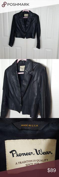 I just added this listing on Poshmark: Vintage Leather Fringe Biker Jacket EUC. #shopmycloset #poshmark #fashion #shopping #style #forsale #pioneer wear #Jackets & Blazers