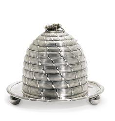 AGeorge III silver beehive honey pot, Paul Storr, London, 1802   lot   Sotheby's