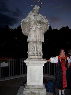 Statue des Heiligen Johannes von Nepomuk in Laufenburg, Aargau