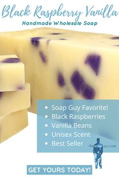 Each batch of soap is handmade even today as our business has grown. Black Raspberry Vanilla is a customer favorite that you're sure to love!