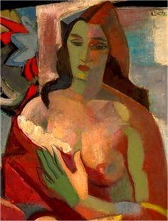 art,lhote,1924-Femme en buste (c. 1924) Huile sur toile (92 x 73)