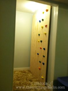 I never thought of making my own climbing wall but it is actually really easy.