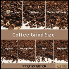 There are a few standards while grinding coffee beans coarse or fine that are ex. - There are a few standards while grinding coffee beans coarse or fine that are expected to explore. Grinding Coffee Beans, Types Of Coffee Beans, Kinds Of Beans, Coffee Tasting, Coffee Drinkers, Coffee Brewer, Iced Coffee, Starbucks Coffee, Kona Coffee