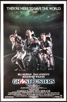 GHOSTBUSTERS (Ghost Busters) Movie Poster (1984) || COMEDY Movie Posters @ FilmPosters.Com - Vintage Movie Posters and More Kid Movies, Comedy Movies, Movies To Watch, Movie Tv, Great Movies, 1984 Movie, Popular Movies, Bill Murray, Ghostbusters Poster