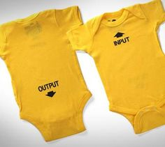 Input Output Baby Onsie http://odditymall.com/