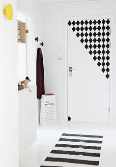 front door with Ferm Living wall decals