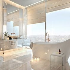 "658 Likes, 22 Comments - NEUMARK (@neumarkdesign) on Instagram: ""Bowmont residence. Bath room.  The property in Beverly Hills located on a mountaintop with…"""