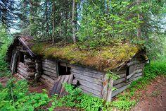 abandoned cabin near lake