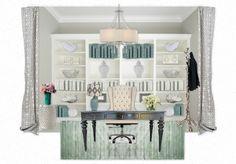 Aqua + White Office Retreat by charminglyshab | Olioboard
