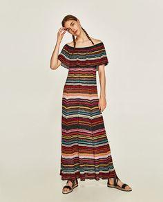 ZARA - COLLECTION AW/17 - MULTICOLOURED STRIPED DRESS