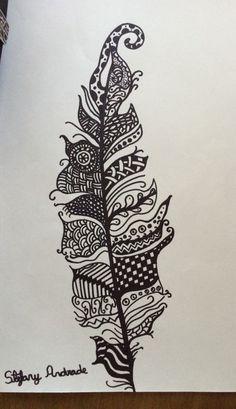 Pena de doodle. Doodle drawing.