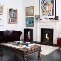Beautiful Living Room with Modern Art