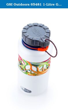 GSI Outdoors 65481 1-Litre Glacier Stainless Dukjug, Tie-Dye. GSI Outdoors 65481 1 L Glacier Stainless Dukjug - Tie-Dye: Stainless Steel, Silicone Grip bottle with cam-profile lid, tether-cord and industry-standard wide-mouth. Fully recyclable; non-leaching; contains no BPA or Phthalates.