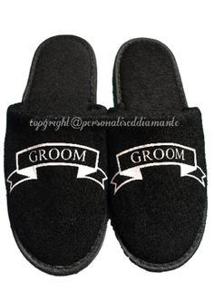 Groom gift , Groom slippers , Groomsmen gift , mens slippers , Groomsman gift…