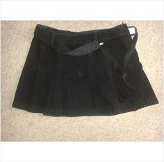 Designer TED BAKER Cute Casual Summer Mini Black Skirt