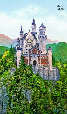 Awesome view of the German Neuschwansten Castle, Germany