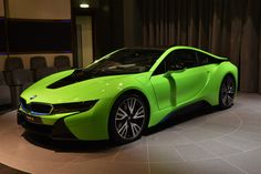 BMW i8 I haven't seen this beauty in green yet! I might like it more than the white.