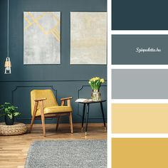 House Arch Design, Yellow Home Decor, Living Room Color Schemes, House Paint Exterior, Mid Century Decor, Decorate Your Room, Bedroom Colors, Apartment Design, Home Decor Outlet