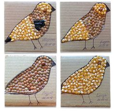 Seed Art Ideas for Kids! – How Wee Learn Crafts for kids that use seeds! Great spring art for kids. Seed Crafts For Kids, Crafts For Girls, Diy Arts And Crafts, Preschool Crafts, Food Art For Kids, Art Activities For Kids, Activity Ideas, Spring Art Projects, Spring Crafts