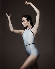 Ballerina Amber Scott in a new Keto Dancewear leotard - the Zipper Racer Back Leotard.