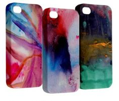 Abstract iPhone cases I like the one on the left!