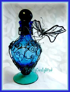 Stained Glass Faerie With Filigree Embellished by TwirlyCurlyBird, $125.00