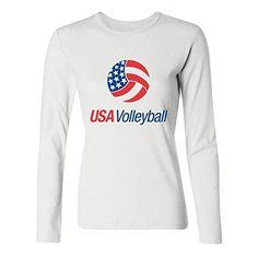 DLQUEEN Women's Usa Volleyball Logo Adult Long Sleeve T-shirt Size L White DLQUEEN http://www.amazon.com/dp/B0199RJ2KI/ref=cm_sw_r_pi_dp_7hMVwb1ZK0YSP