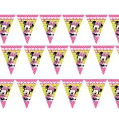Bunting: Minnie Mouse Party Flag Banner