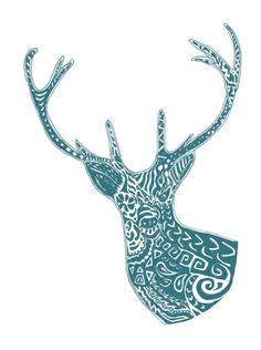 Deer Art Print   Nicole Tomaszewska