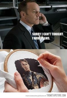 Coulson, Captain America fanboy.