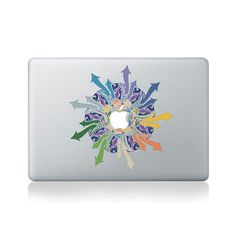 Graffiti Arrows Mandala Vinyl Macbook Sticker by VinylRevolution, £12.00