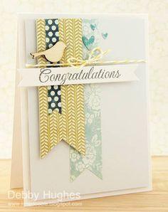 Von der Erstellerin zwar nicht als Hochzeitskarte gedacht, aber ich finde Farbgebung und die Leichtigkeit der Karte ideal für eine Hochzeitskarte - egal ob Einladung oder Glückwunsch.
