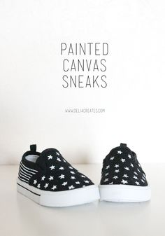 delia creates: DIY Painted Canvas Sneakers