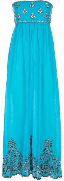 yellow maxi dress   TAJ Embellished Maxi Dress -