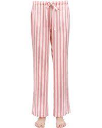 Morgan Lane | Chantal Striped Silk Satin Pajama Pants |  Lyst
