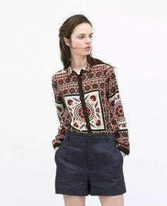 Vintage ladies' cotton shirt
