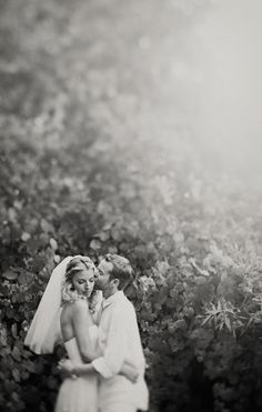 Clayton Austin Photography. What a lovely black & white wedding photo. I love the proportions.