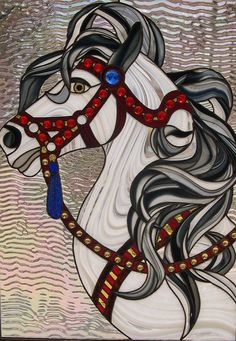 Stained Glass Whirligirl Horse by StainedGlassbyWalter on Etsy