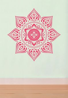 Large Bohemian Mandala Decal for Living Room, Dorm, Yoga, Studio, Home or Bedroom on Etsy, $52.00