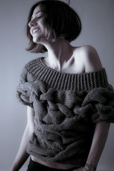 Gorgeous chunky cable knit sweater