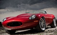 Eagle Speedster red supercar machine Canvas Wall Poster