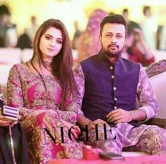 Mai or Meri mohabbat Atif Aslam Wife, Celebrity Singers, Mehndi Dress, Bollywood Wedding, Stylish Couple, Pakistan Fashion, Cute Couples, Wedding Couples, Casual Party