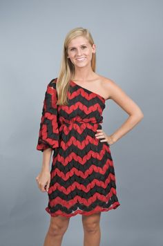 Great for UGA tailgating JUDITH MARCH: Winning IS Everything Dress-Red